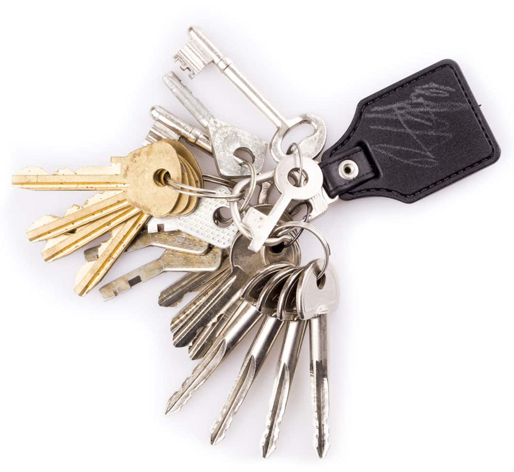 Bunch of keys from KC Locksmiths Brighton