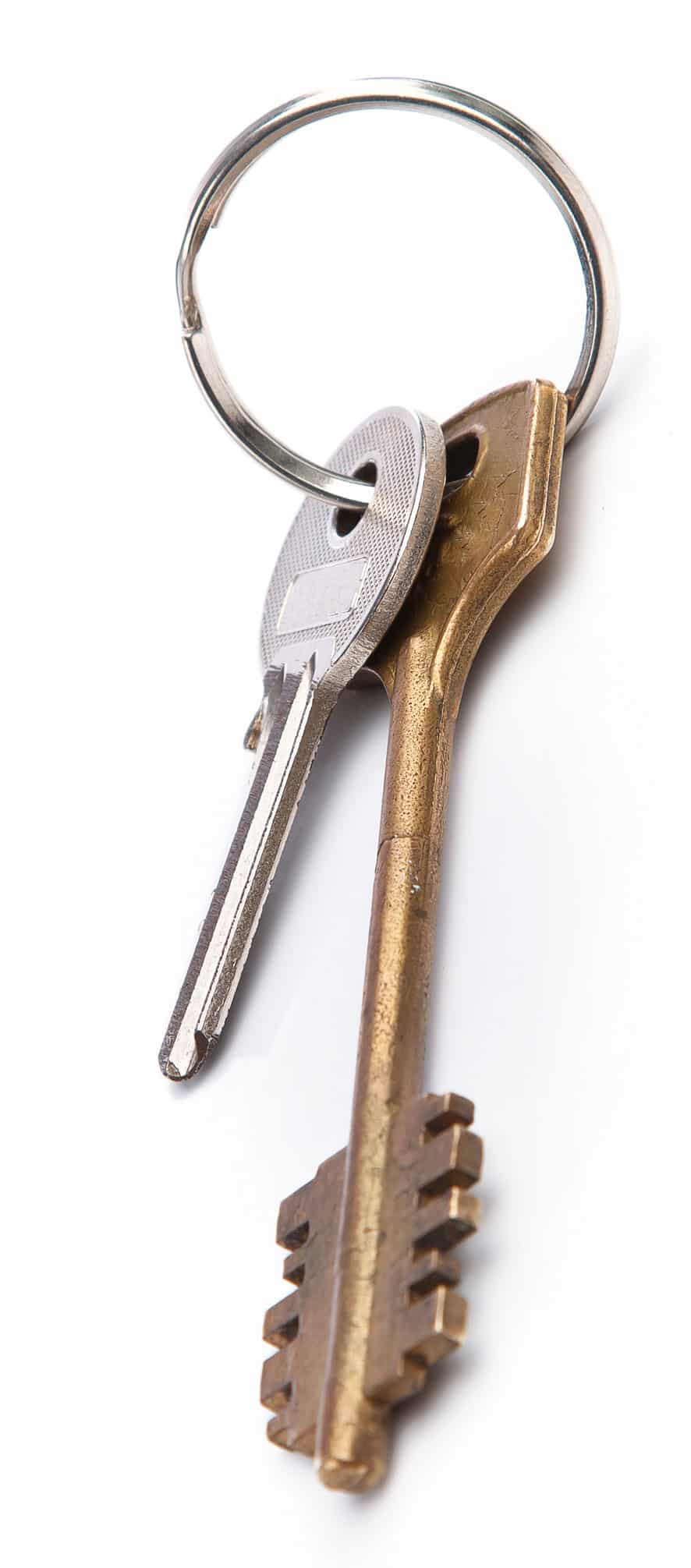 Silver and bronze keys from KC Locksmiths Brighton